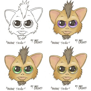 3 mohawk tandar face set