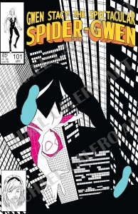 Spider-Gwen homage cover (2015)